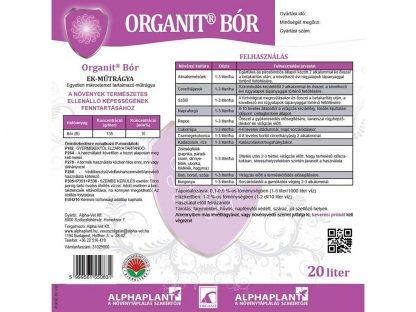Organit bór lombtrágya - 20 liter