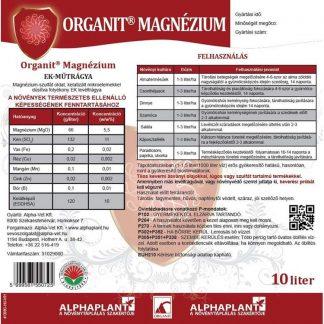 Organit Magnézium lombtrágya -10 liter