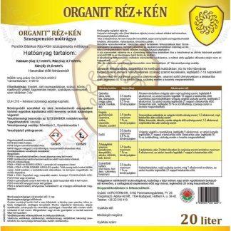 Organit Réz+Kén - 20 liter