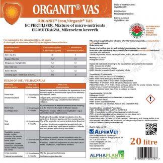 Organit vas lombtrágya - 20 liter