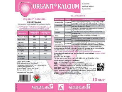 Organit Kalcium-10 liter, címke