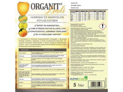 Organit Kondi - 5 liter, címke