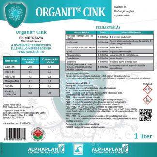 Organit cink lombtrágya –1 liter