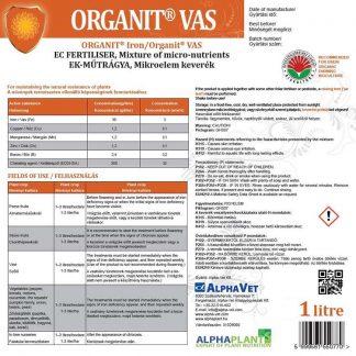 Organit Vas lombtrágya – 1 liter