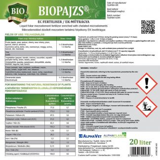 Biopajzs® bio lombtrágya - 20 liter